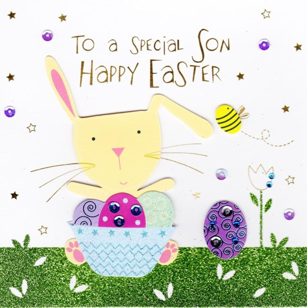 To A Special Son Happy Easter Greeting Card