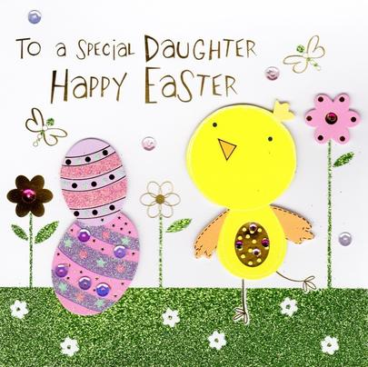 To A Special Daughter Happy Easter Greeting Card