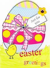 Cute Egg Shaped Easter Greeting Card