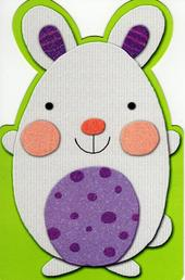 Cute Easter Bunny Shaped Happy Easter Greeting Card