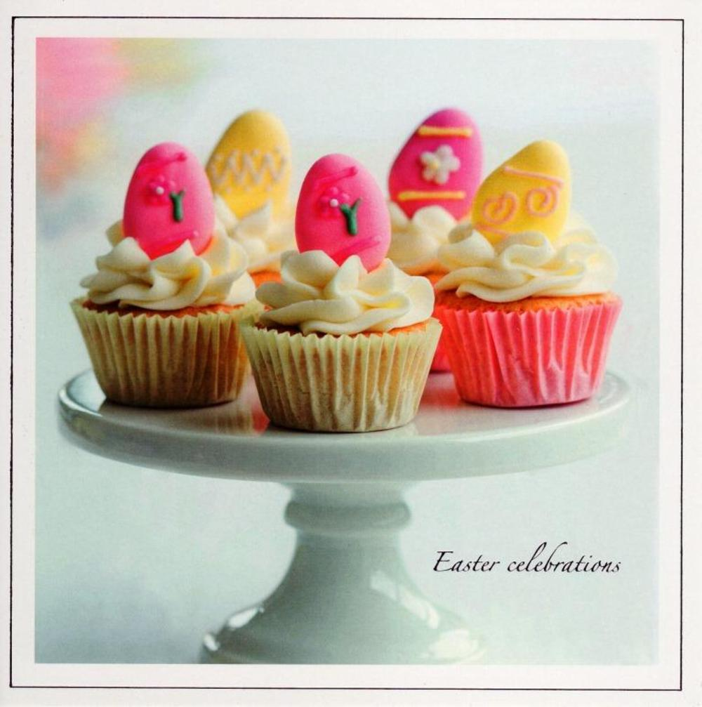 Happy Easter Cupcakes Photographic Greeting Card