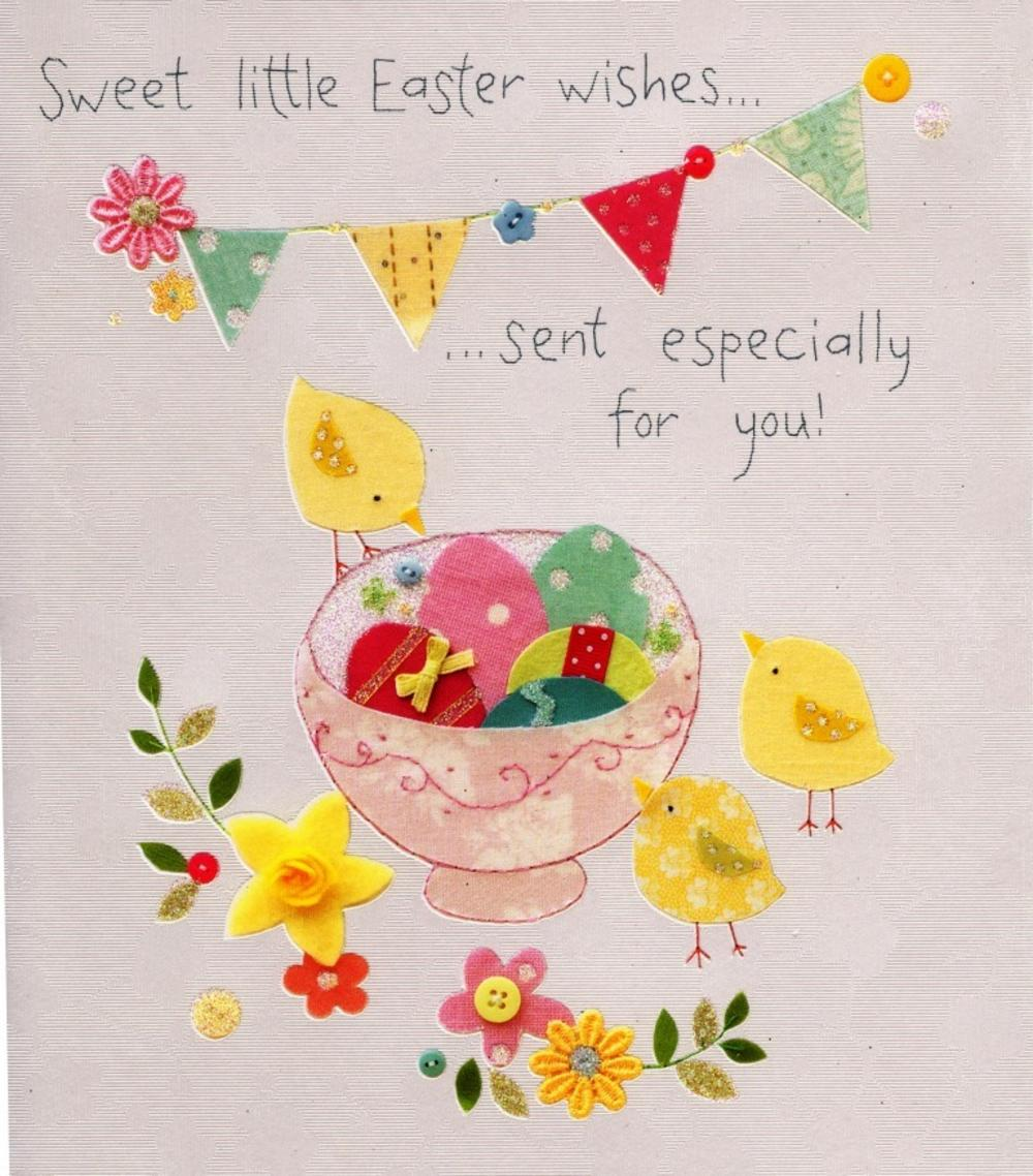 Sweet Little Easter Wishes Button Box Greeting Card Cards Love Kates