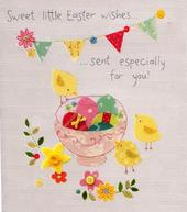 Sweet Little Easter Wishes Button Box Greeting Card
