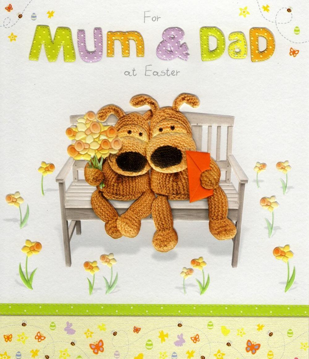 Mum & Dad Boofle Easter Greeting Card