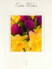 Easter Wishes Spring Flowers Small Greeting Card
