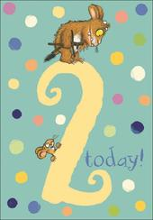 Gruffalo Two Today 2nd Birthday Greeting Card