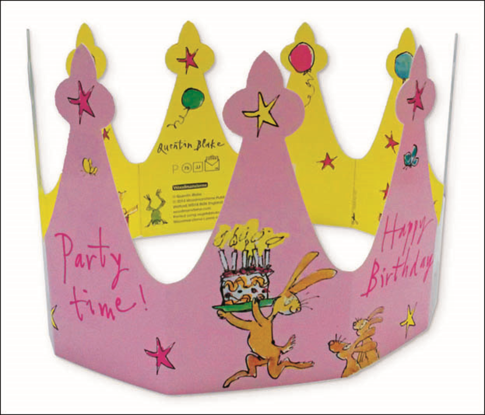 Quentin Blake Happy Birthday Crown Greeting Card