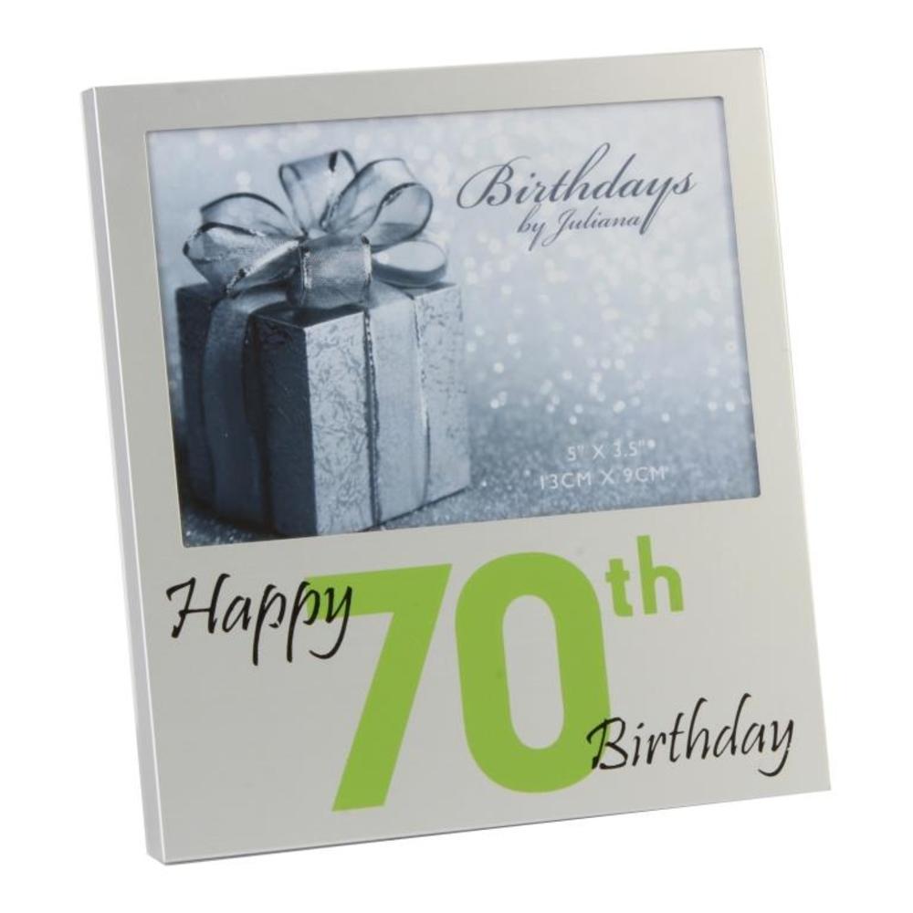 "Happy 70th Birthday  5"" x 3.5"" Photo Frame By Juliana"