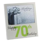 "Happy 70th Birthday  5"" x 3.5"" Photo Frame By Juliana"