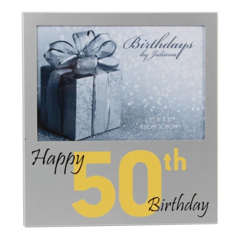 "Happy 50th Birthday  5"" x 3.5"" Photo Frame By Juliana"