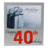 "Happy 40th Birthday  5"" x 3.5"" Photo Frame By Juliana"