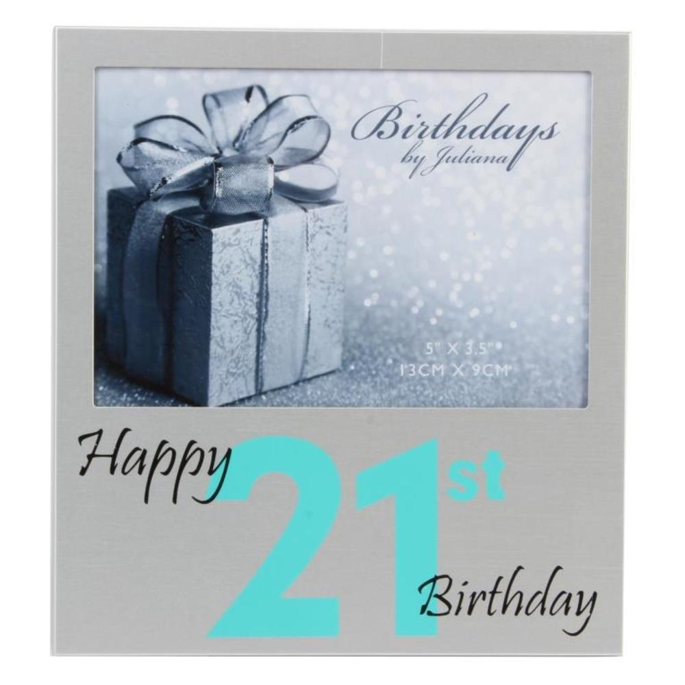 "Happy 21st Birthday  5"" x 3.5"" Photo Frame By Juliana"