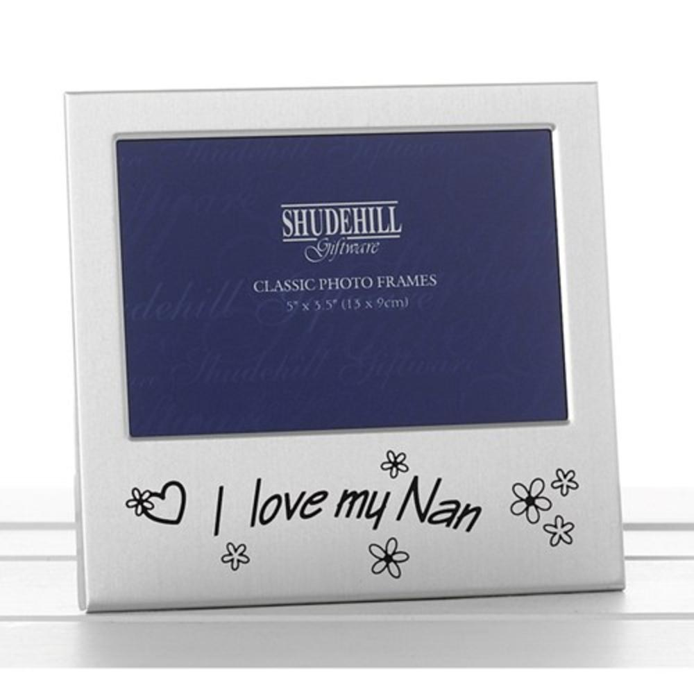 "I Love My Nan 5"" x 3.5"" Photo Frame By Shudehill"