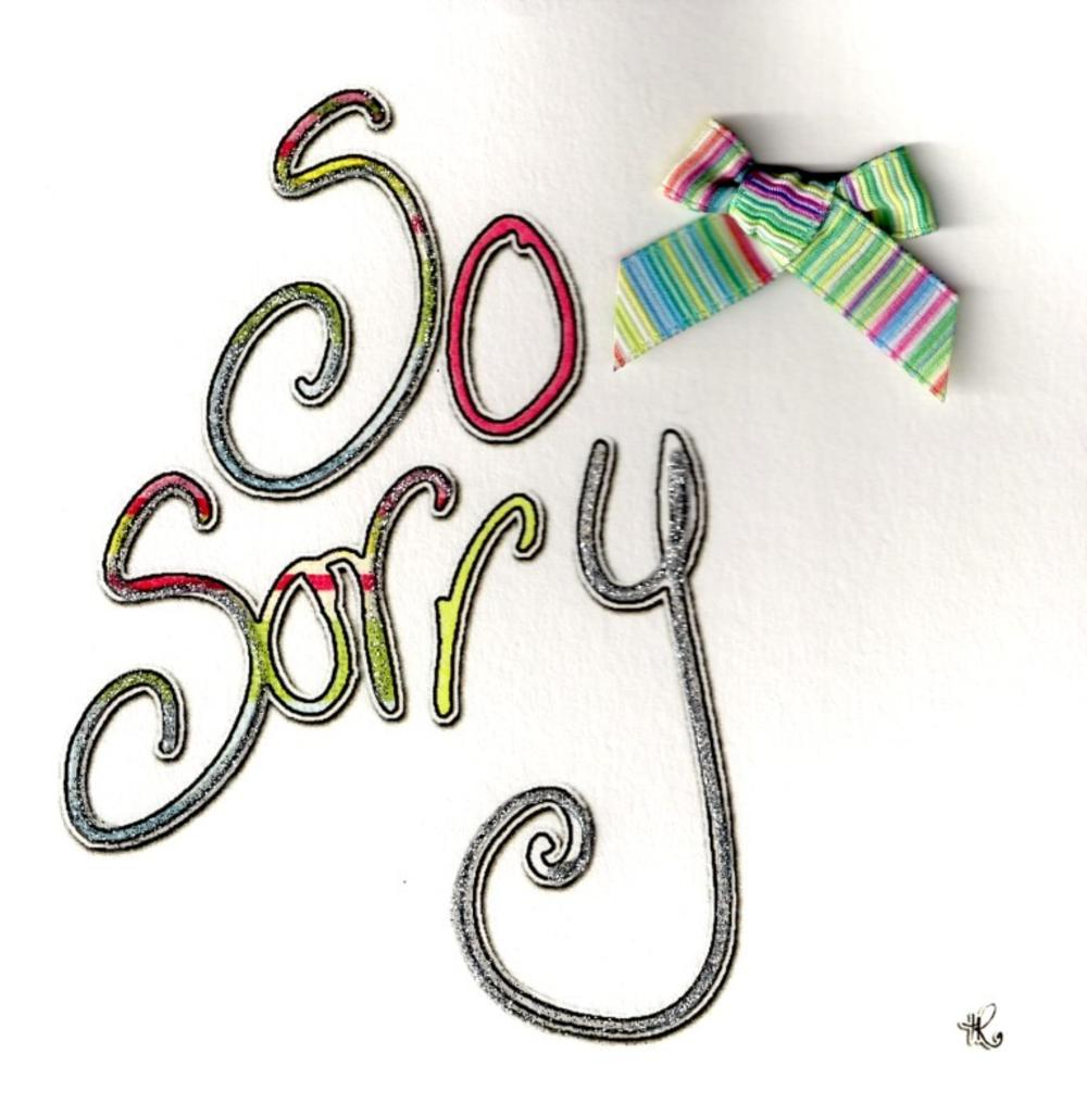 So Sorry Greeting Card By Tracey Russel