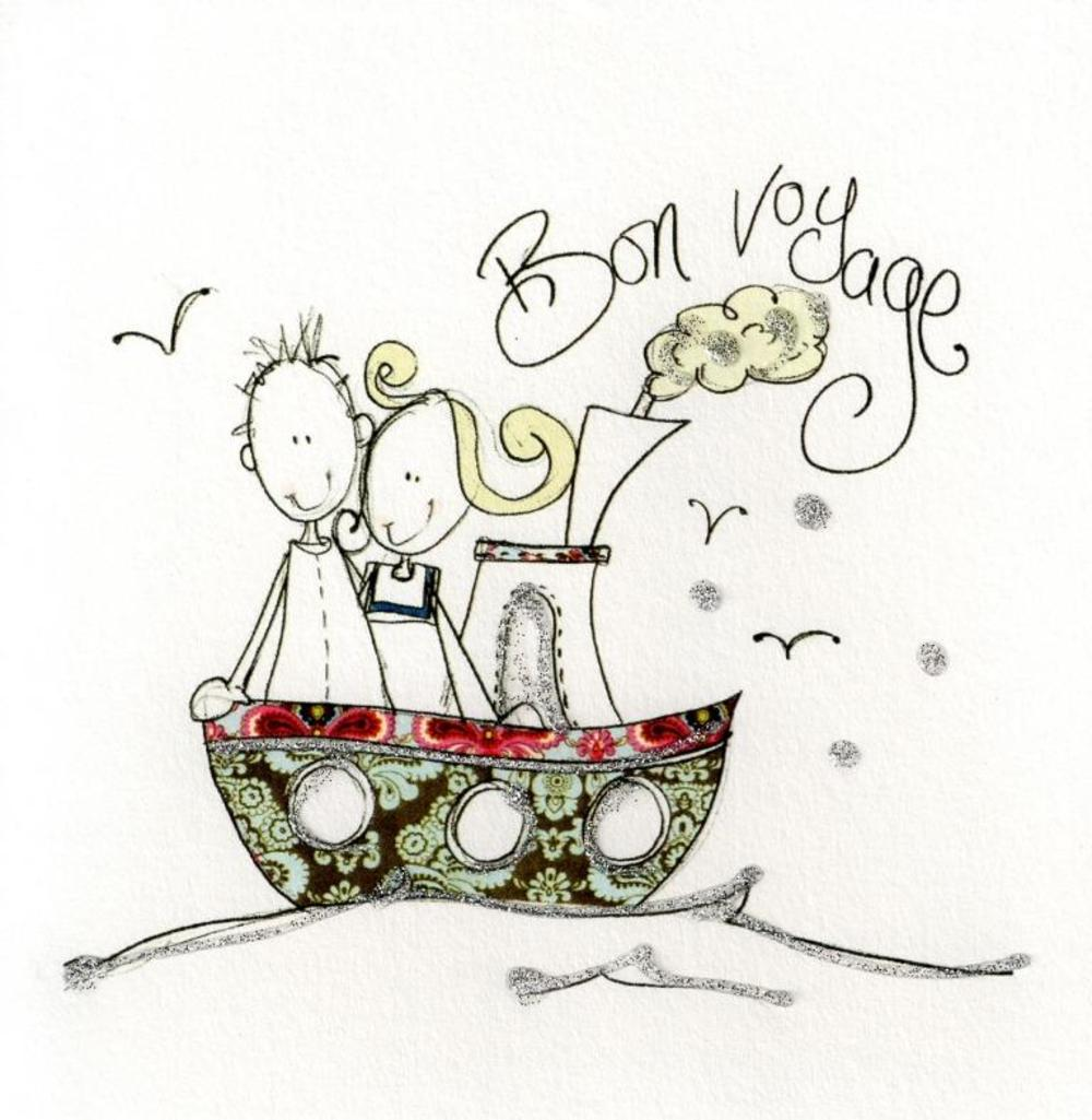 Bon voyage greeting card by tracey russell cards love kates bon voyage greeting card by tracey russell kristyandbryce Image collections