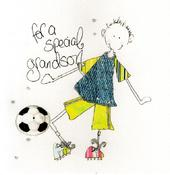 Special Grandson Birthday Greeting Card By Tracey Russell