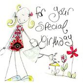 Special Birthday Greeting Card By Tracey Russell