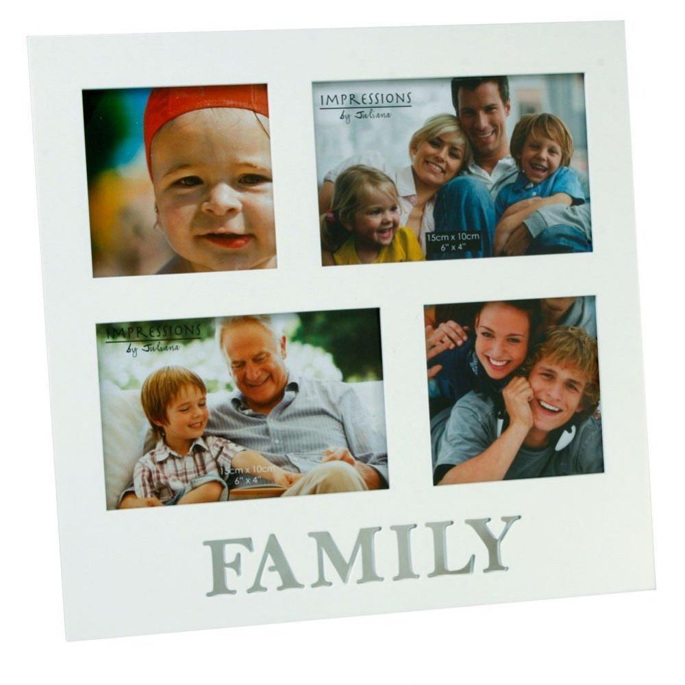 Family White Multi Aperture 4 Photo Frame