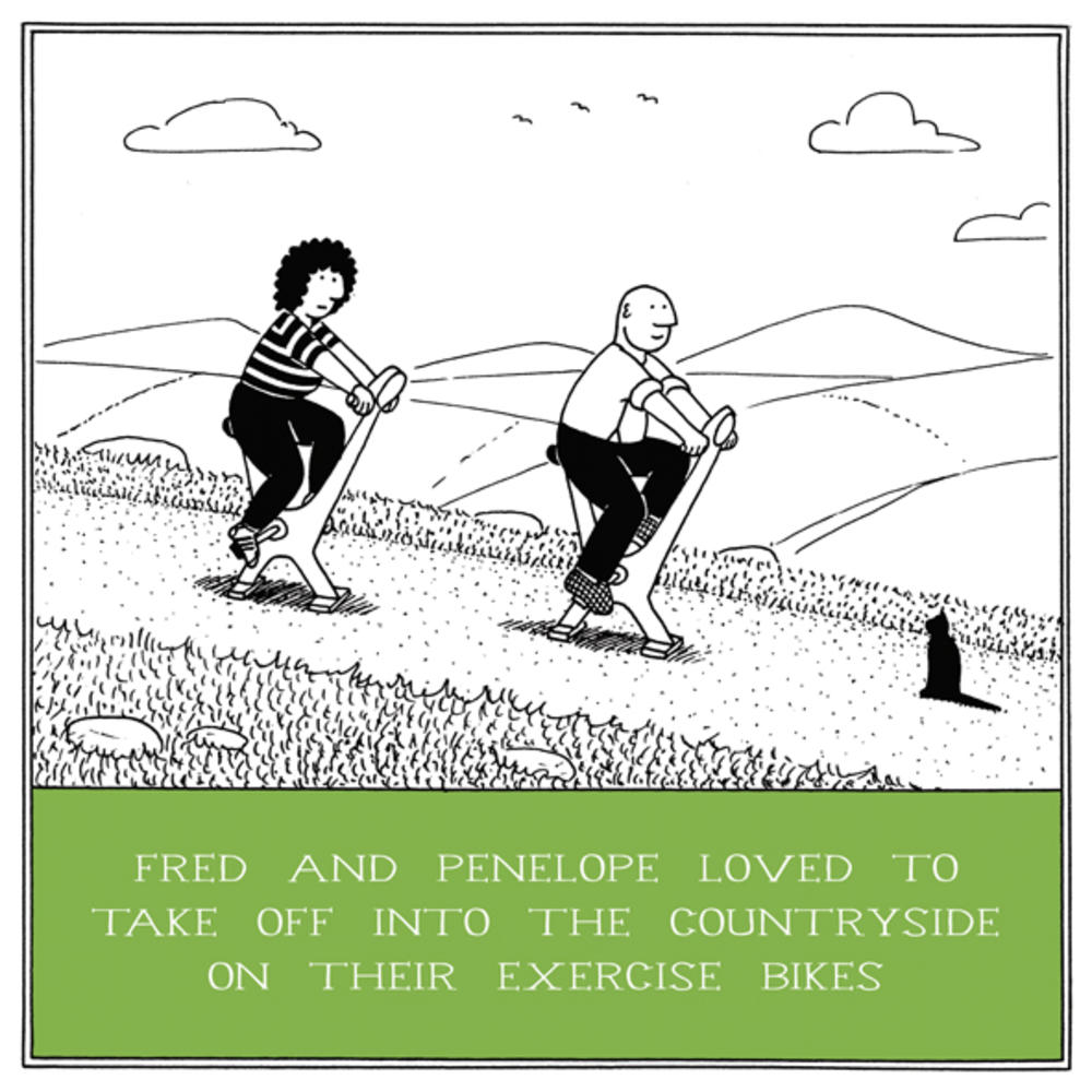 Exercise Bikes Funny Fred Birthday Card