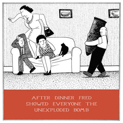 Unexploded Bomb Funny Fred Birthday Card