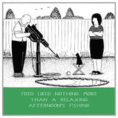 Relaxing Fishing Funny Fred Birthday Card