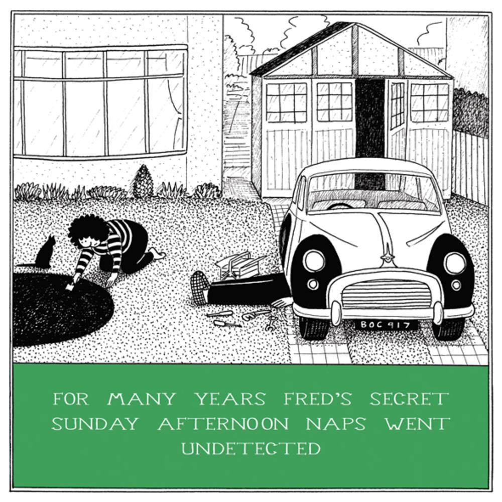 Secret Naps Funny Fred Birthday Card