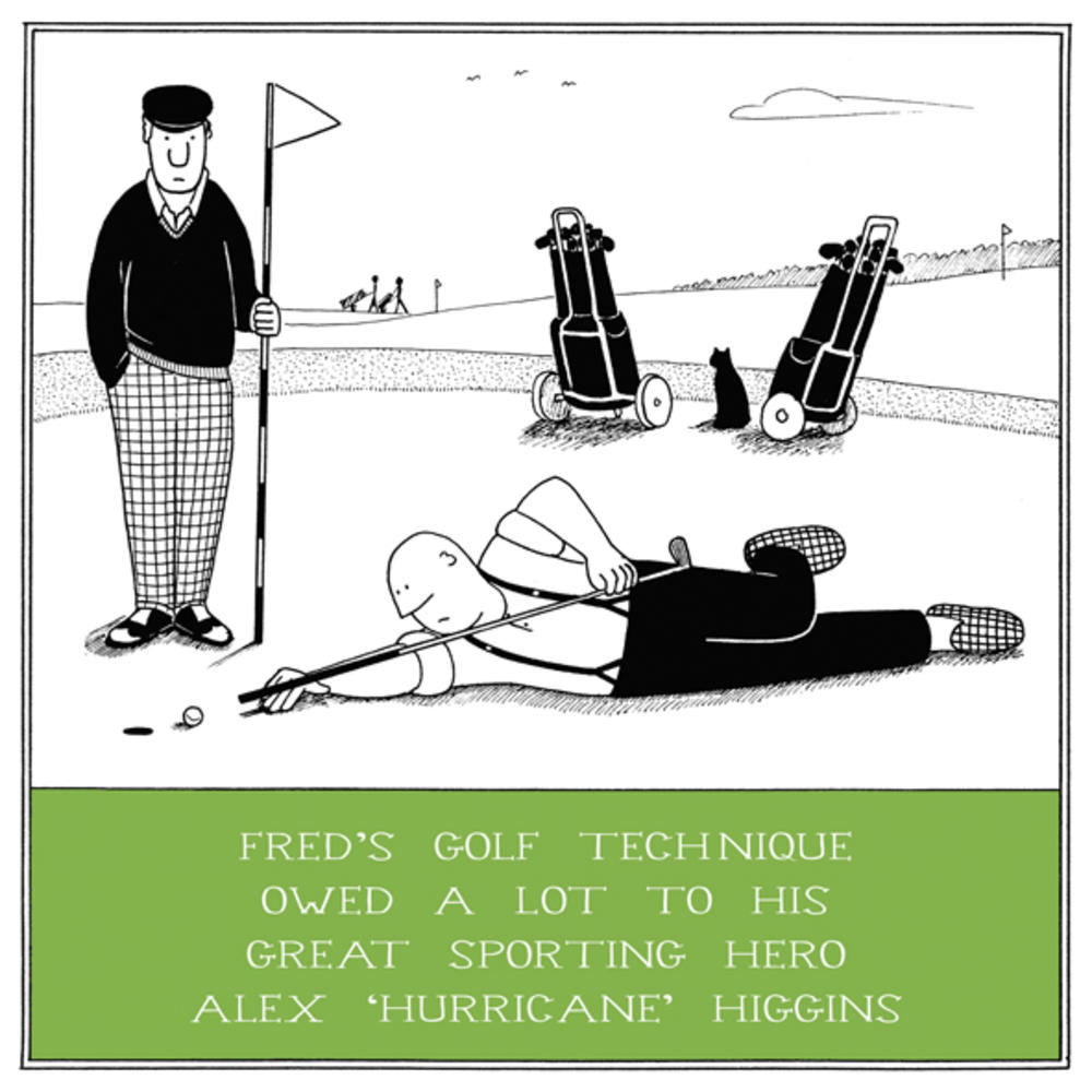 Golf Technique Funny Fred Birthday Card
