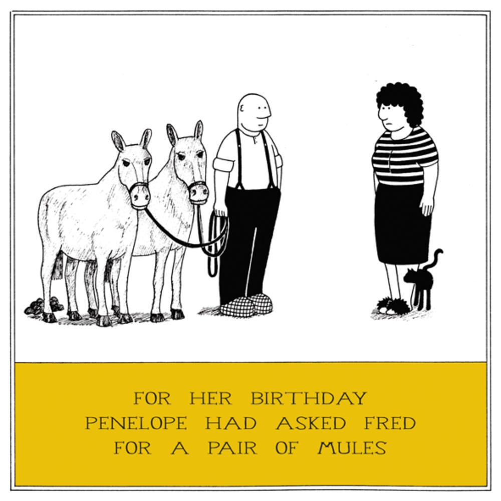 Pair Of Mules Funny Fred Birthday Card