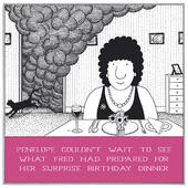 Surprise Birthday Dinner Funny Fred Birthday Card