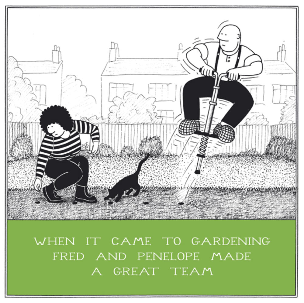 Gardening Great Team Funny Fred Birthday Card