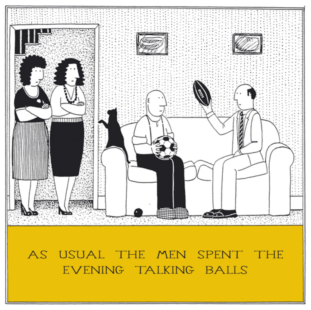 Talking Balls Funny Fred Birthday Card