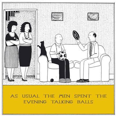 Talking Balls Funny Fred Birthday Card