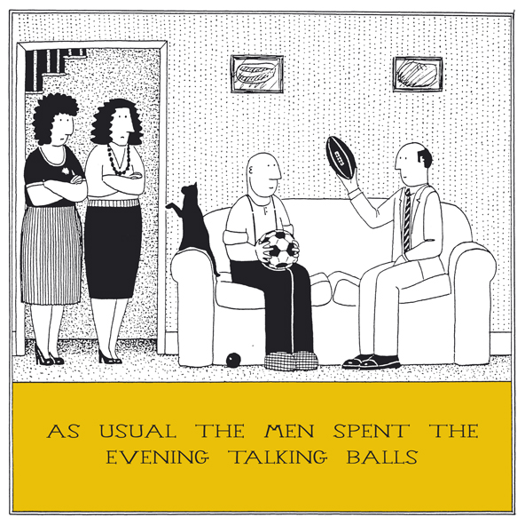 Talking Balls Funny Fred Birthday Card Rupert Fawcett Humour