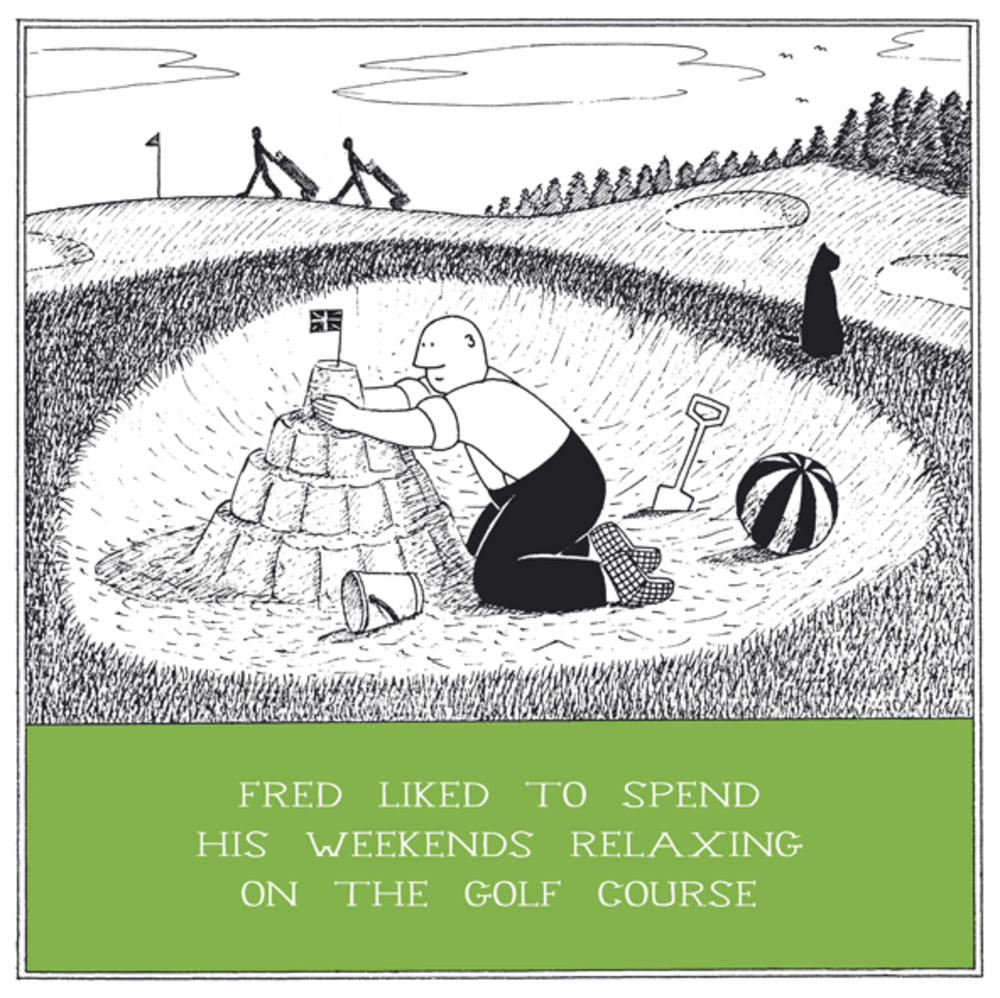 Relaxing Golf Course Funny Fred Birthday Card Cards – Birthday Cards Golf