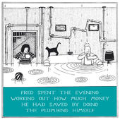 DIY Plumbing Funny Fred Birthday Card