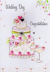 Wedding Day Congratulations Card Water Colours By Second Nature