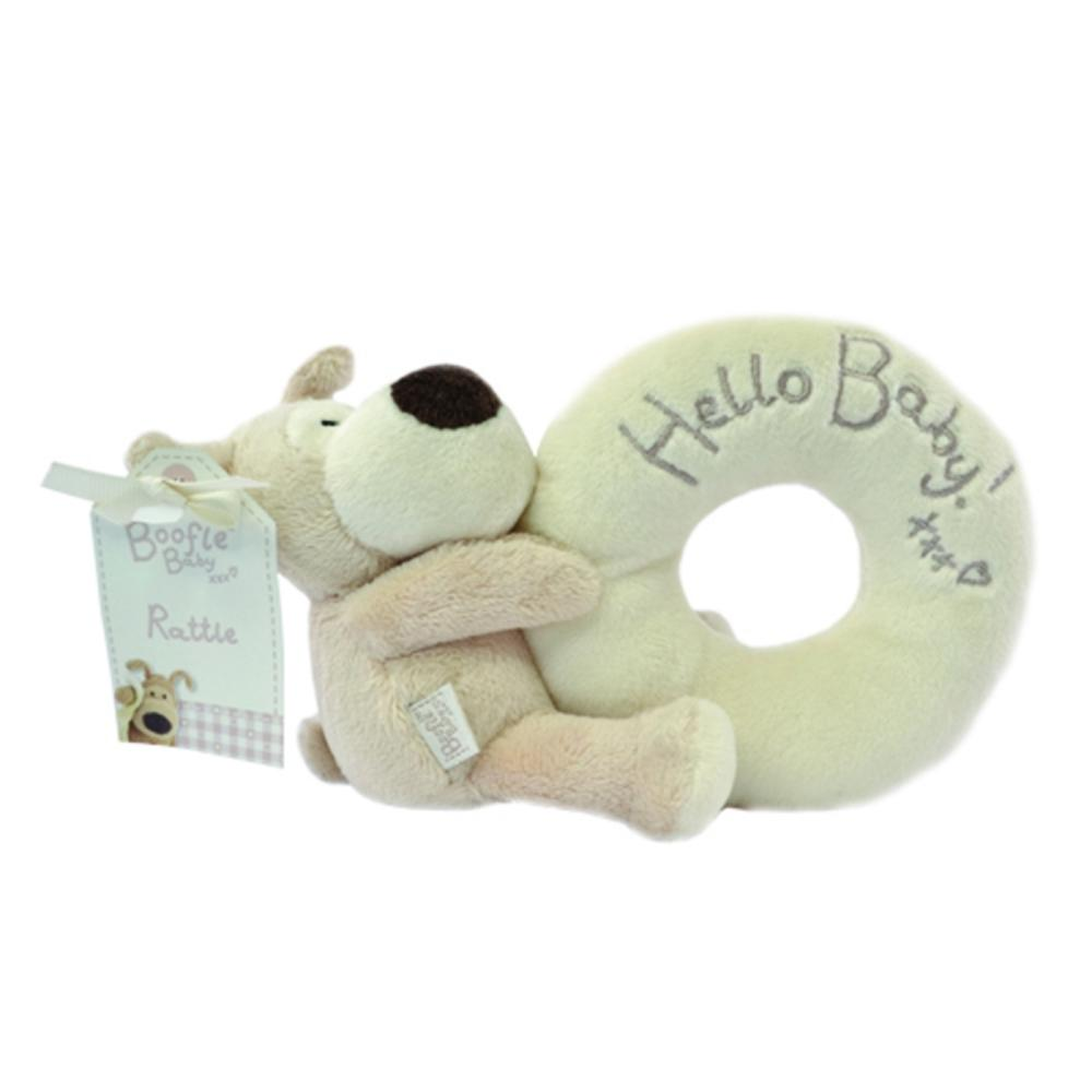 Boofle Hello Baby Plush Rattle