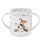 Boofle Happy Christening Day Twin Handled Mug In A Gift Box
