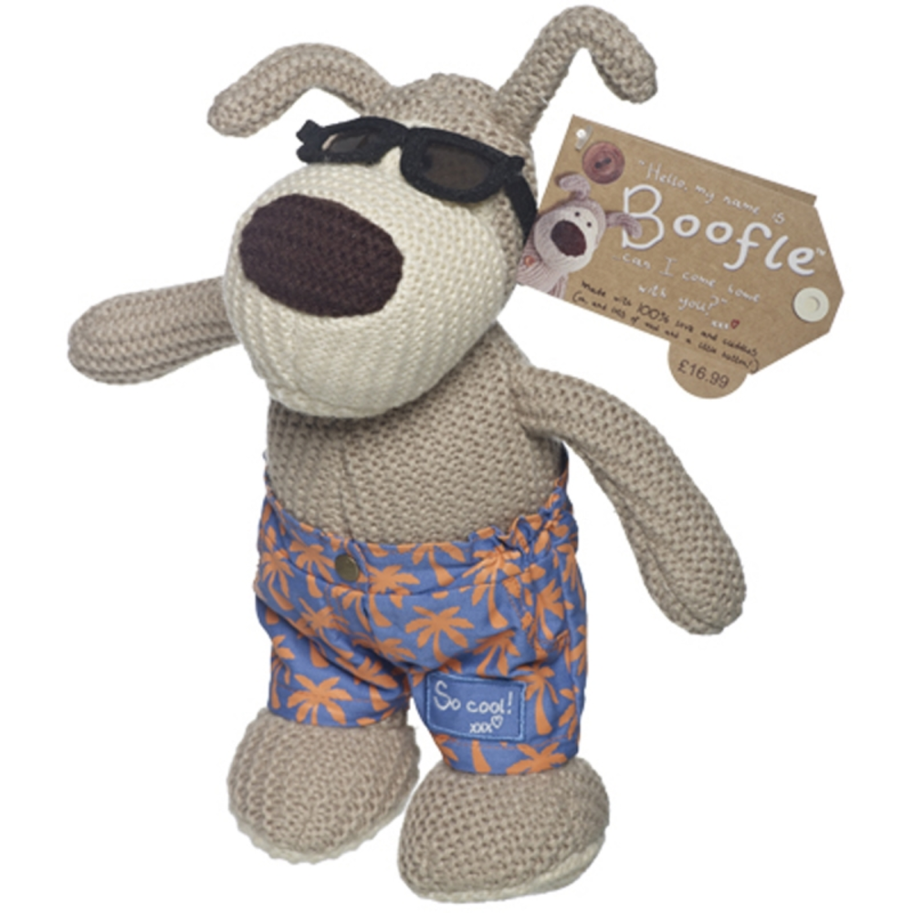 "Cool Boofle Wearing Sunnies & Board Shorts 10"" Standing Plush"