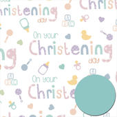 Christening Day Wrapping Paper Pack Wrap Set