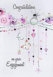 Engagement Congratulations Card Water Colours By Second Nature