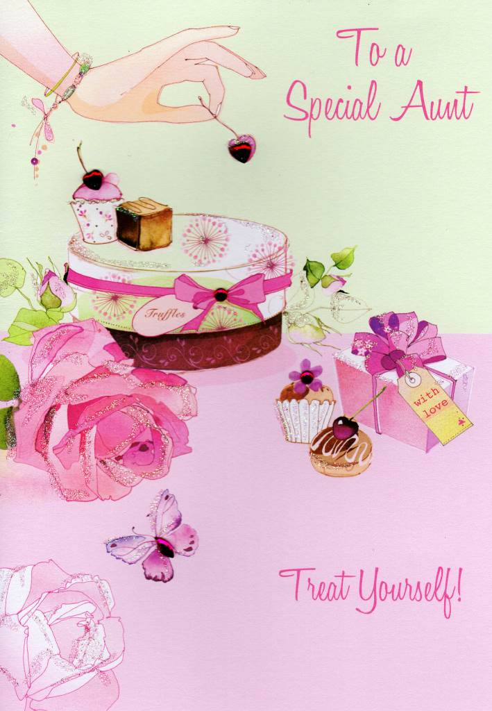 Special Aunt Birthday Card Water Colours By Second Nature Cards