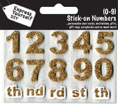 Numbers 0-9 Gold DIY Greeting Card Toppers