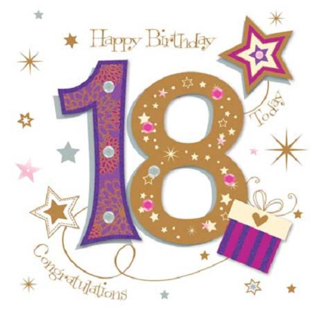Happy 18th Birthday Greeting Card By Talking Pictures – 18th Birthday Cards for Girls