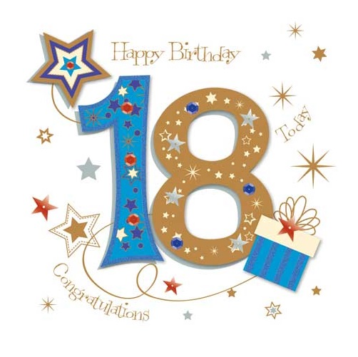 Happy 18th Birthday Greeting Card By Talking Pictures