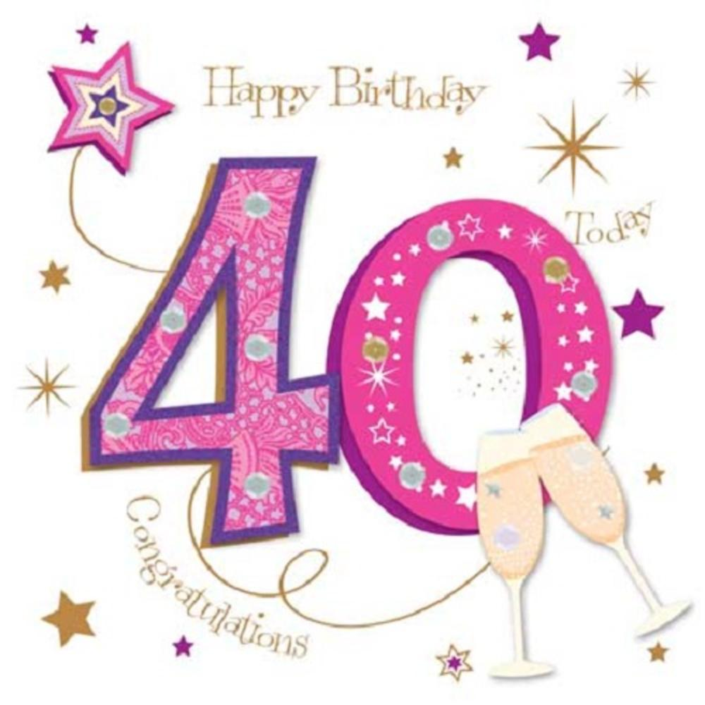 Happy 40th Birthday Greeting Card By Talking Pictures Thumbnail 1