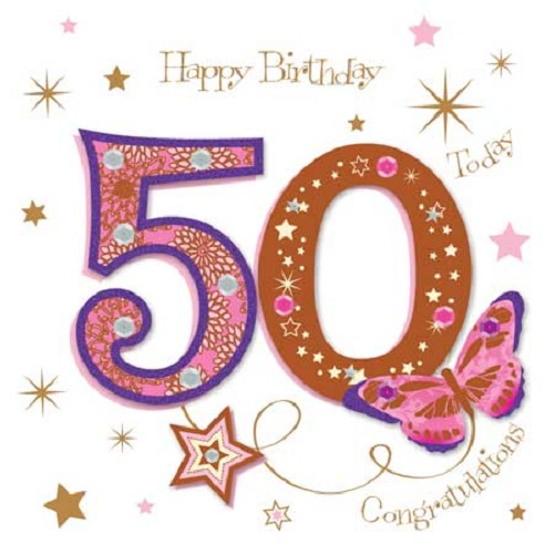 Happy 50th Birthday Greeting Card By Talking Pictures Cards Love