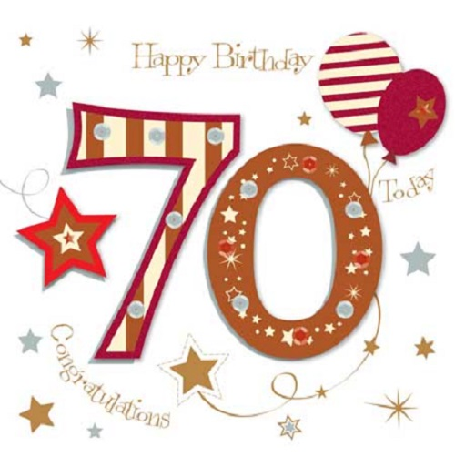 Happy 70th Birthday Greeting Card By Talking Pictures Cards Love