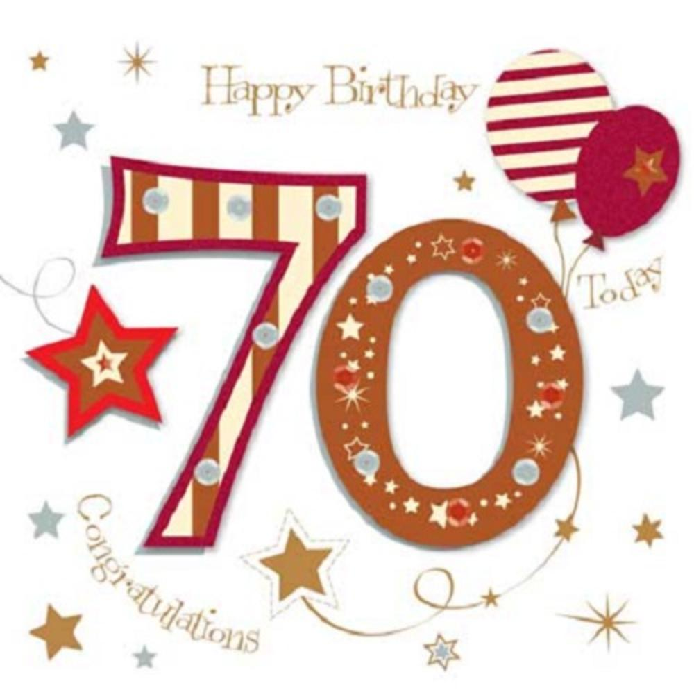 Happy 70th Birthday Greeting Card By Talking Pictures
