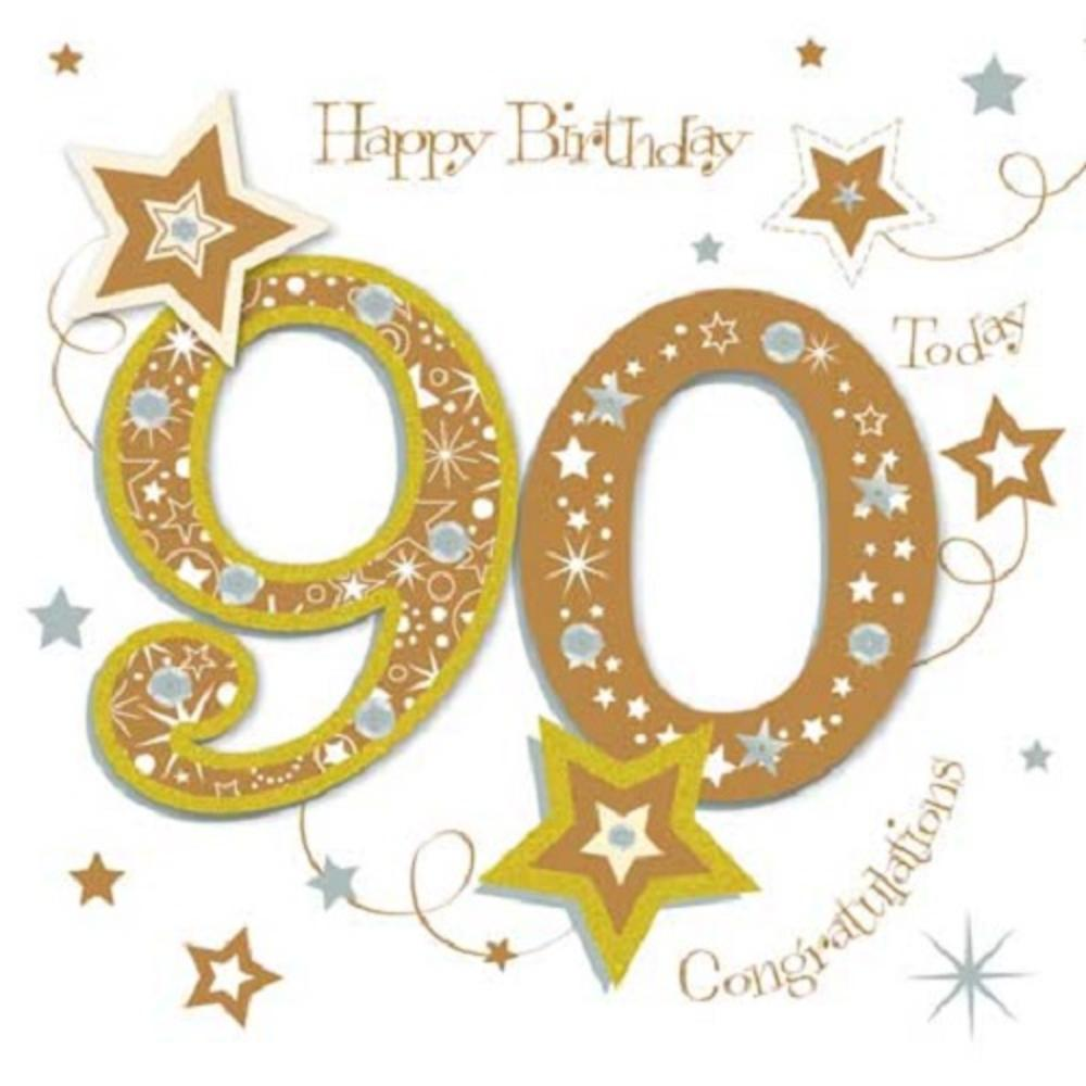 Happy 90th Birthday Greeting Card By Talking Pictures